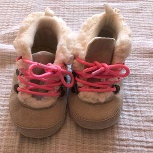Gap cozy lace up boots, 6-12m